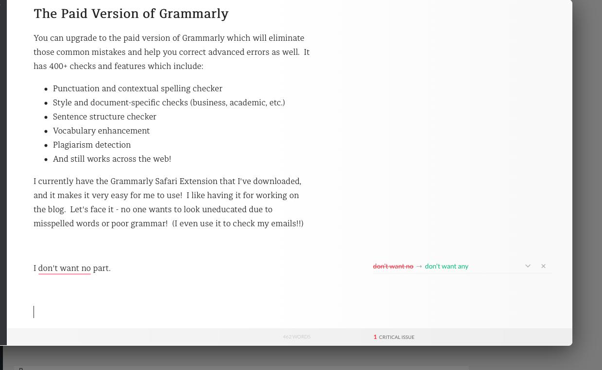Grammarly Screen Shot