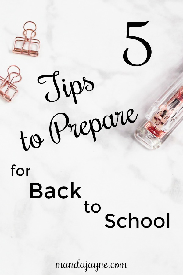 5 tips to prepare for back to school