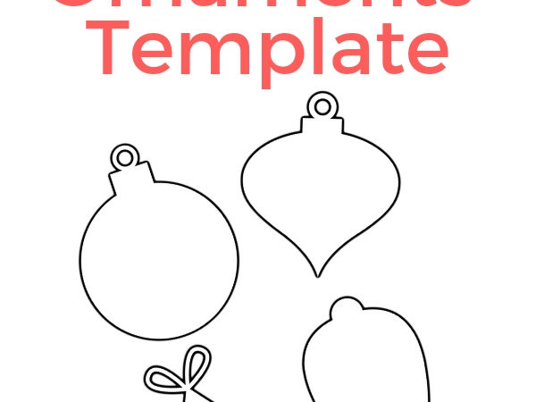 Christmas Ornament Printable – Free Template You Can Print!