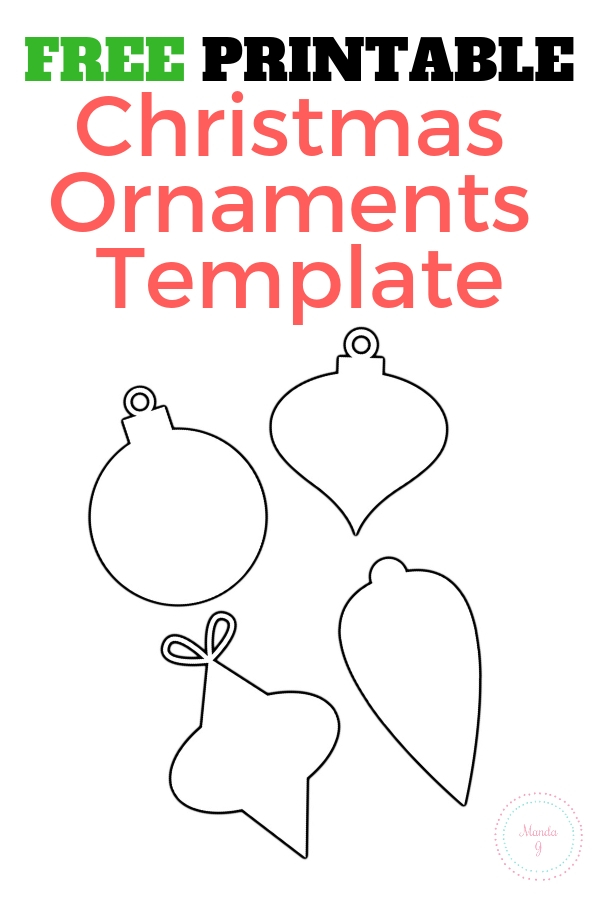 A Display of the Free Ornament Template