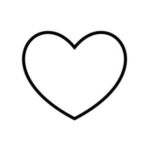 one large heart printable
