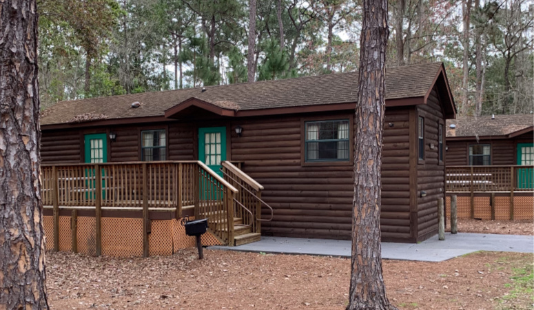 The cabins at Fort Wilderness Resort.