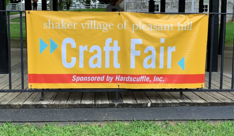 Craft Show Sign at Shaker Village Entrance