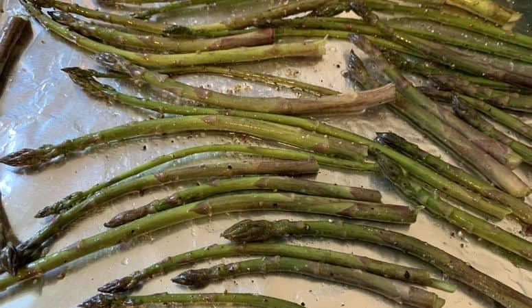 Asparagus on a Baking Sheet