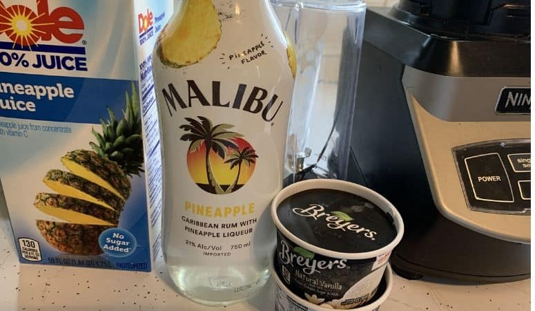 Dole Whip with Rum ingredients