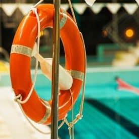 life preserver at pool