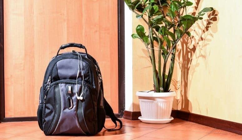 Bookbag by the door